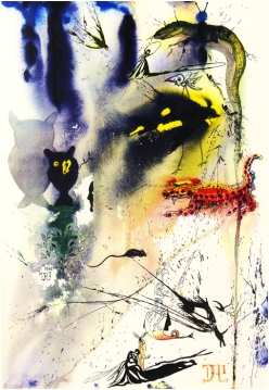 Alice in wonderland by Salvador Dali art chicquero - a caucus race and a long tale