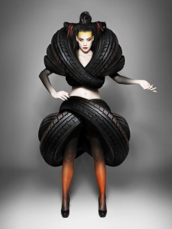 Goodyear marketing branding fashion car tyres chicquero