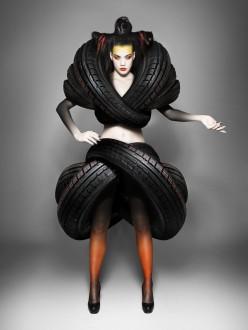 Goodyear marketing branding fashion car tyres chicquero