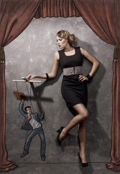 Illustration photo manipulation by Allen Solly artsy chicquero