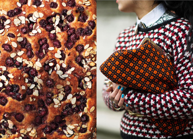 food and fashion style almond-focaccia