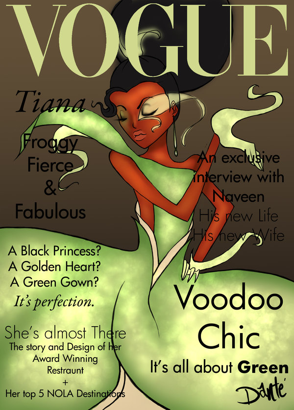 Disney princess Illustration by Dante Tyler - fashion covers of Vogue -  Tiana