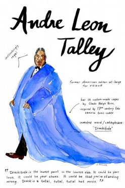Fashion Icon Illustrations by Joana Avillez - chicquero - andre leon talley
