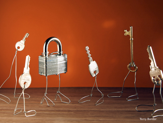 Funny bento objects by Terry Border  keys locker