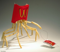 Funny bento objects by Terry Border - Chicquero - mcdonalds fries ketchup