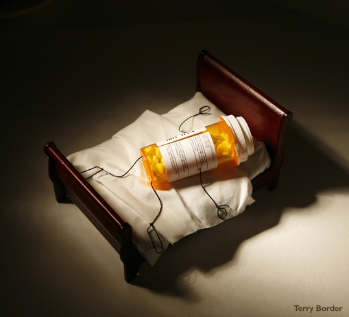 Funny bento objects by Terry Border - pill overdose