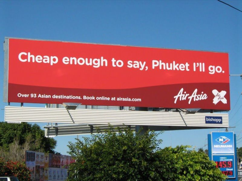 Advertisment marketing branding - air asia