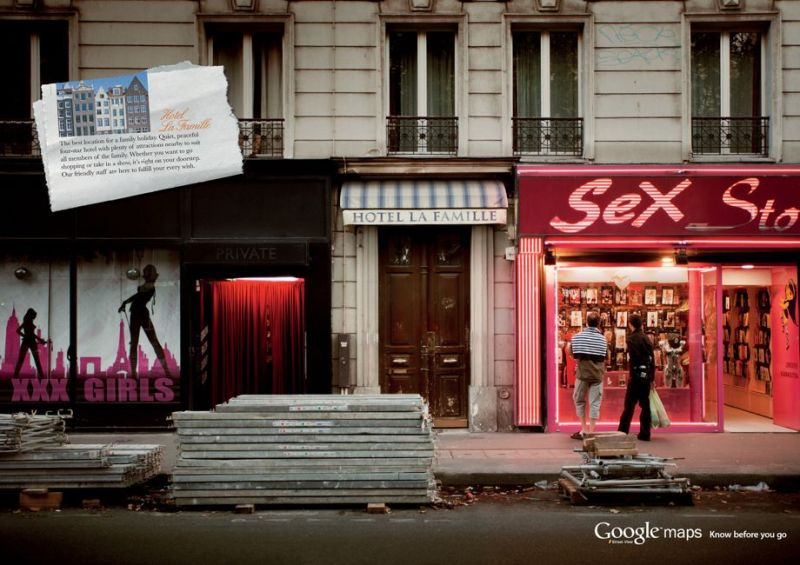 Advertisment marketing branding - - google maps
