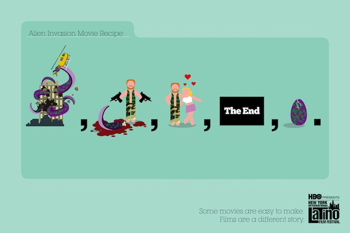 Great Movie clichés illustration pics