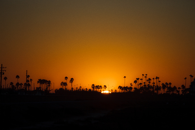 Stay cool summer in Los Angeles California -  freedom photography - sunset