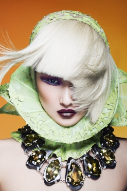 hair editorial - colorful highlights - fashion hair style - chicquero platinum 1