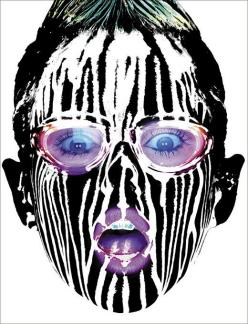 howard-schatz-liquid-light paint photography - chicquero - black and white facial