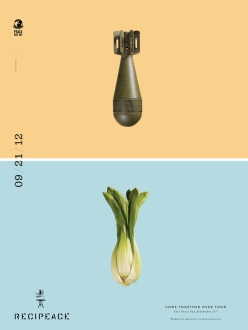 recipeace creative advertising - food war guns - chicquero - bomb celery