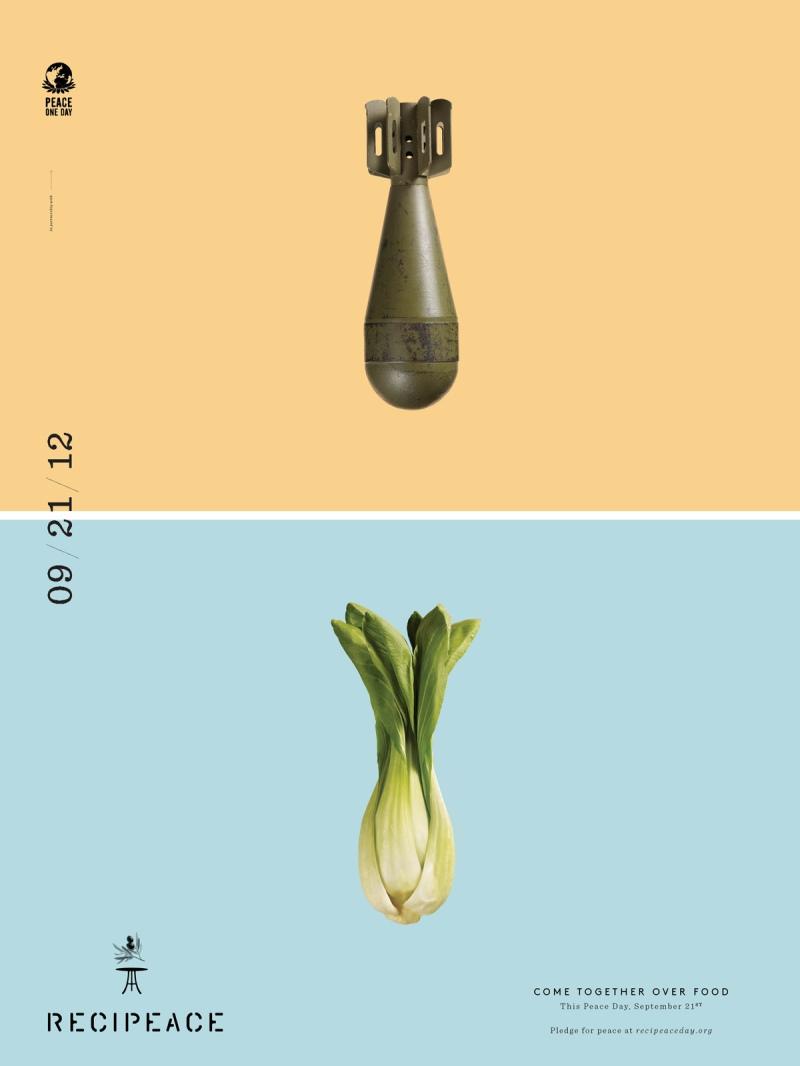 Make food.. not war ! : recipeace creative advertising