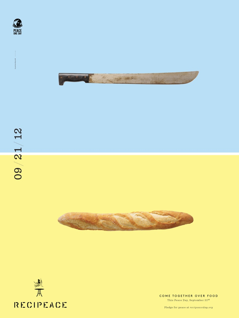 recipeace creative advertising - food war guns knife bread