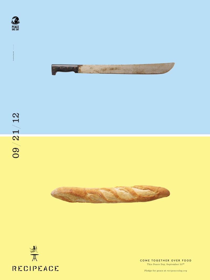 recipeace creative advertising - food war guns knife bread