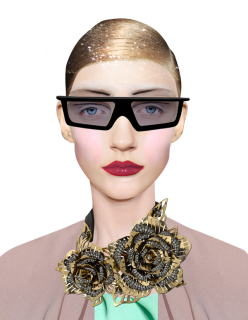 fashion collage - creepy weird halloween inspired - chicquero - sunglasses