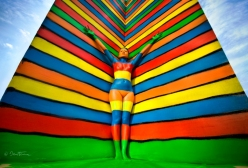 Flesh and Acrylic – colorful body paint by Ben Heine - chicquero  1