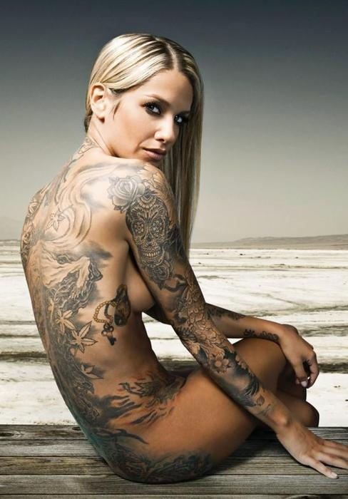 Naked women with sleeve tattoos sex porn images for Sex porn tattoo
