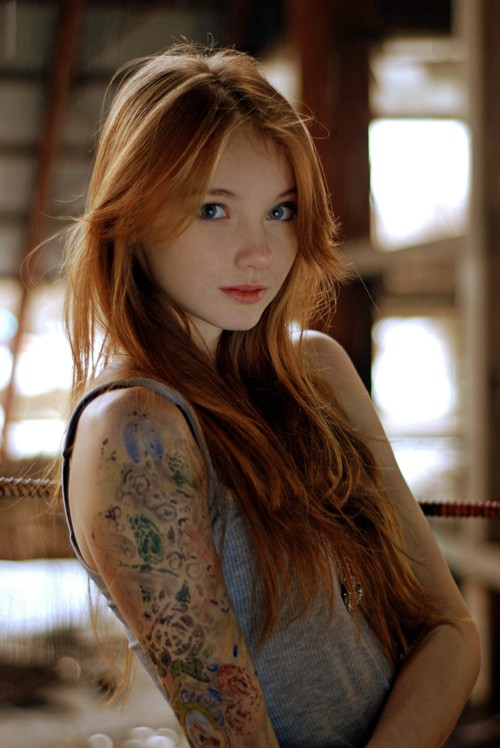 sexy inked girls tattoos tatts- red hair