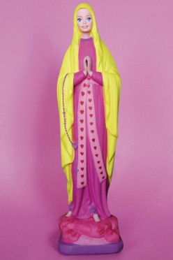Virgin Mary pop sculptures - chicquero art - Saint Barbie