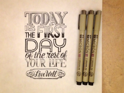 Hand Lettering Quotes - Artsy quotations - Chicquero - today-is-the-first-day-of-the-rest-of-your-life
