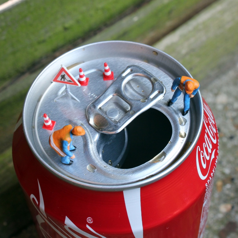 Little people project - cool miniature art coke can