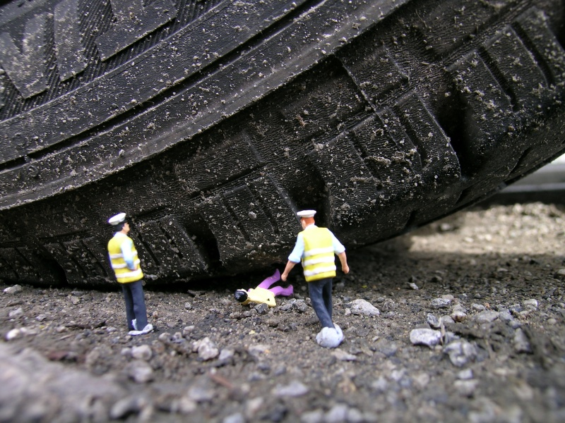 Little people project - cool miniature art -  tires