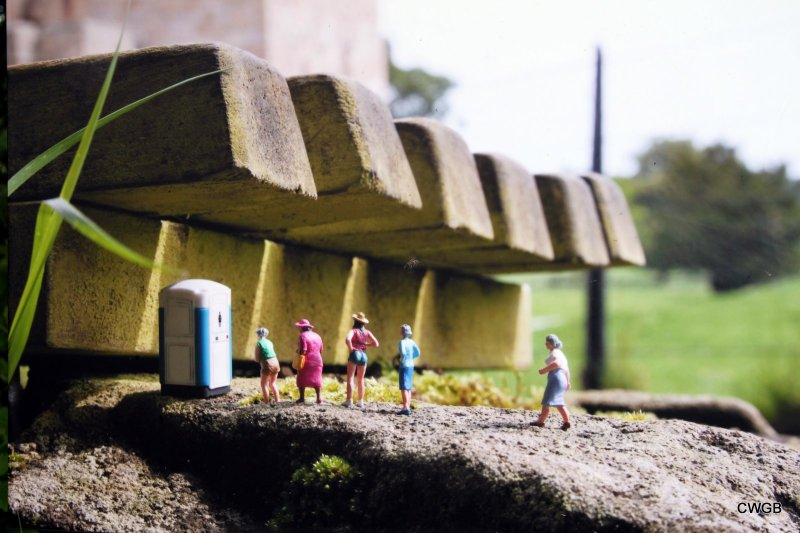 Little people project - cool miniature art  toilet line