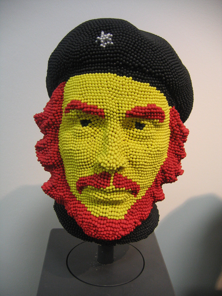 Matcheads by David Mach - Matches art - Che Guevara