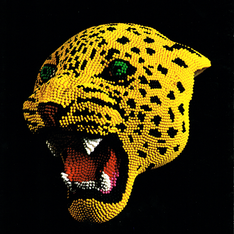 Matcheads by David Mach - Matches art -Leopard