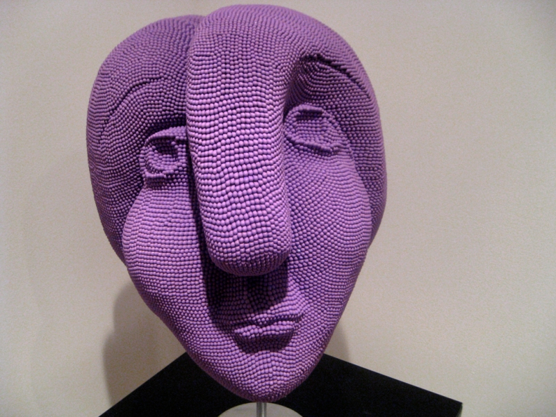 Matcheads by David Mach - Matches art -  Picasso purple head