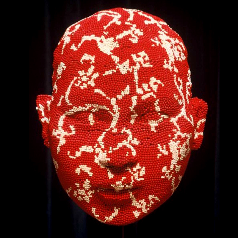 Matcheads by David Mach - Matches art - Red and white head