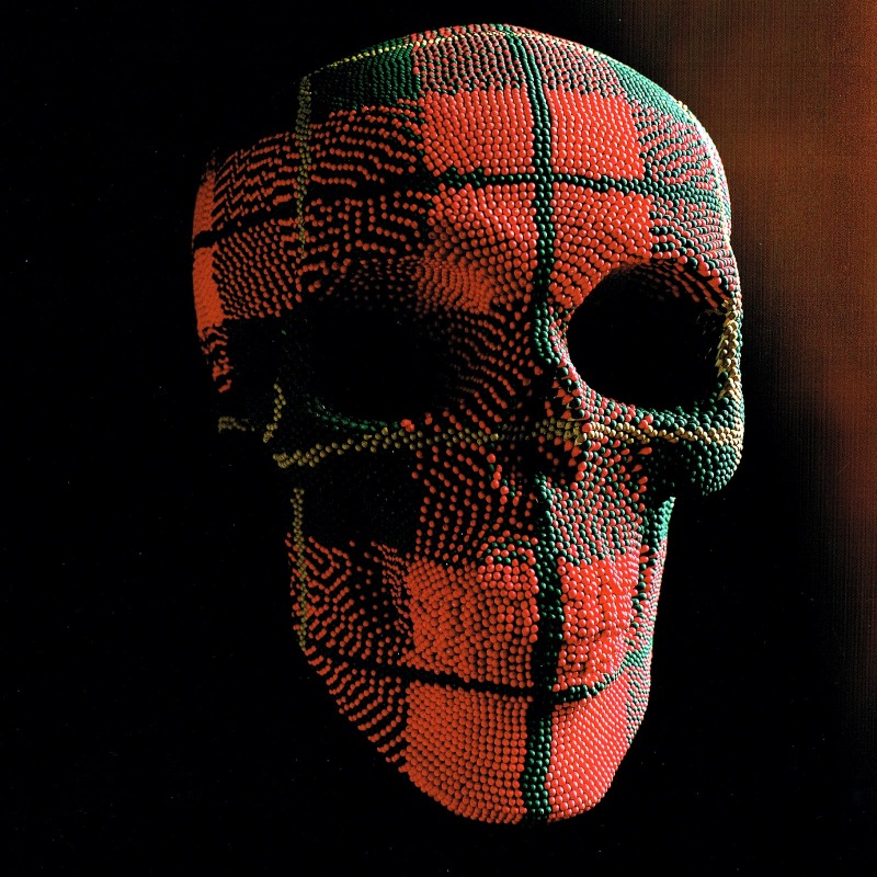 Matcheads by David Mach - Matches art - Skull plaid