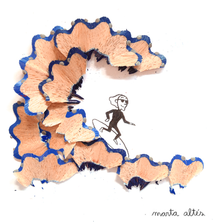 Pencil Shavings Art Work by  Marta Altés