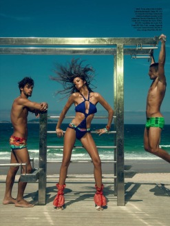 Summer in Rio - Izabel Goulart Elle Brazil - Chicquero Fashion - working out