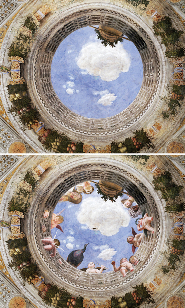 Abandoned paintings - Chicquero arts - Andrea Mantegna %22Oculus in the camera Degli Sposi%22 1473
