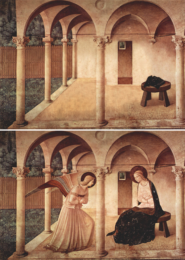 Abandoned paintings - Chicquero arts - Fra Angelico %22The annunciation%22 1450