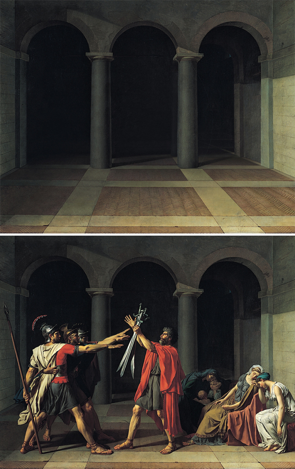 Abandoned paintings - Chicquero arts - Jacques Louis David %22Oath of the Horatii%22 1784