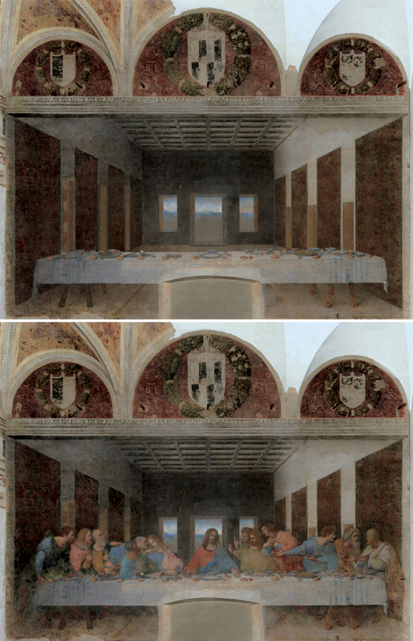 Abandoned paintings - Chicquero arts - Leonardo da Vinci %22The last Supper%22 1495 1498