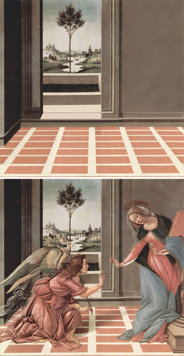 Abandoned paintings - Chicquero arts - Sandro Botticelli %22Annunciation%22 1489 1490
