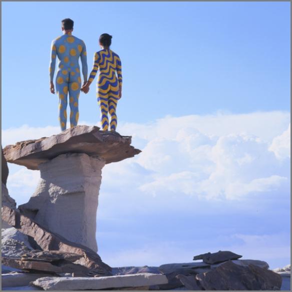 Jean Paul Bourdier - Painted bodies landspace photography - Chicquero Arts - 20