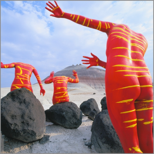 Jean Paul Bourdier - Painted bodies landspace photography - Chicquero Arts - 34