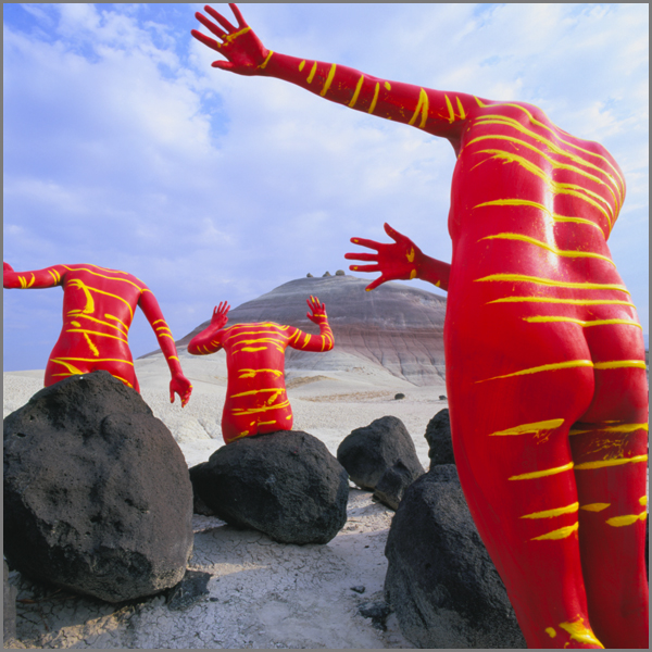 Jean Paul Bourdier - Painted bodies landspace photography - Chicquero Arts - 34