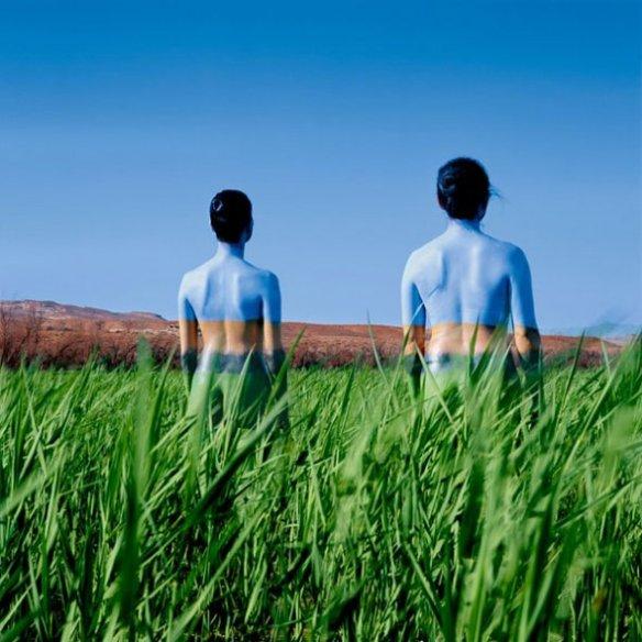Jean Paul Bourdier - Painted bodies landspace photography - Chicquero Arts - 62