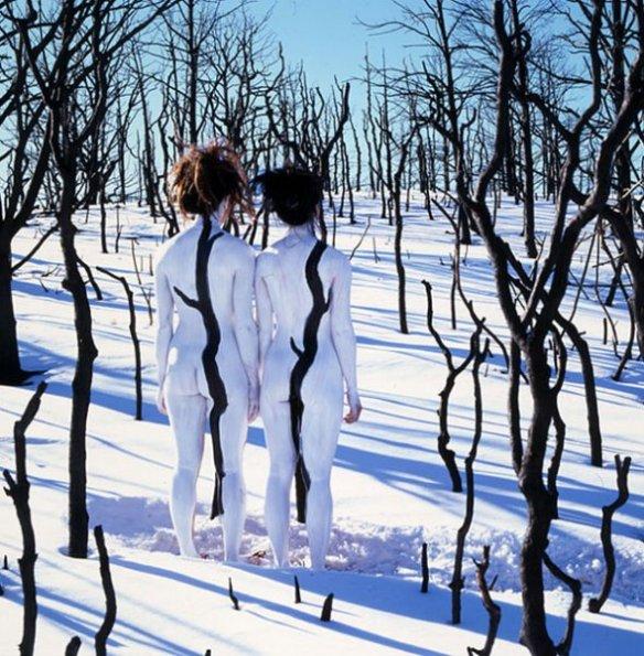 Jean Paul Bourdier - Painted bodies landspace photography - Chicquero Arts - 64
