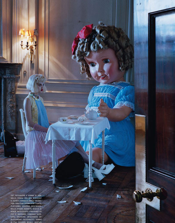 Lindsey Wixson by Tim Walker for Vogue Italia - Fashion dolls - Chicquero dollhouse 11