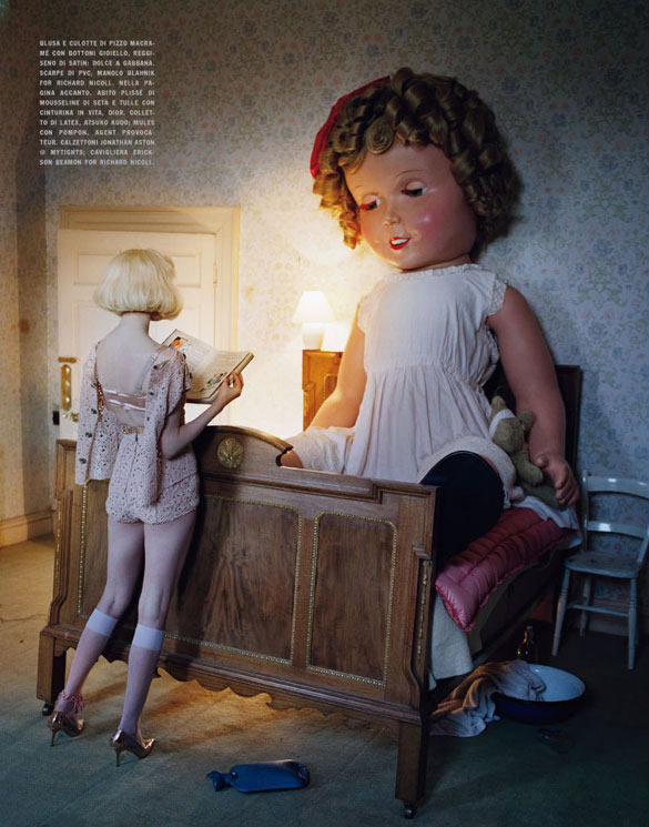 Lindsey Wixson by Tim Walker for Vogue Italia - Fashion dolls - Chicquero dollhouse 13