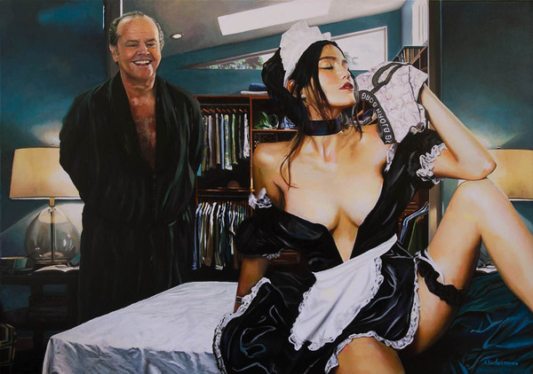 Tos kostermans realistic funny paintings - Chicquero Arts - Bjorn Borg underwear