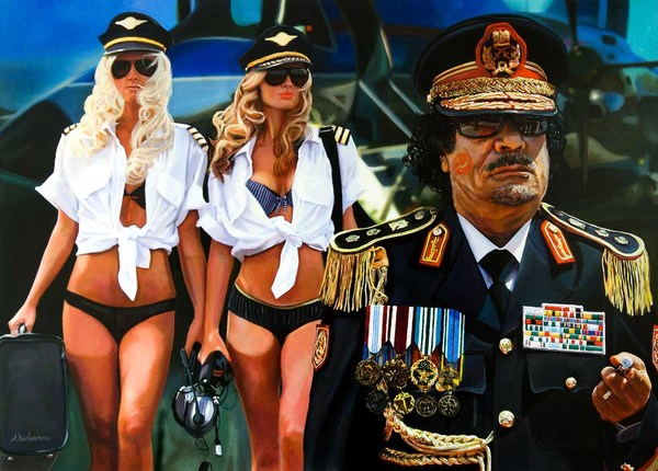 Tos kostermans realistic funny paintings - Chicquero Arts - Last Flight